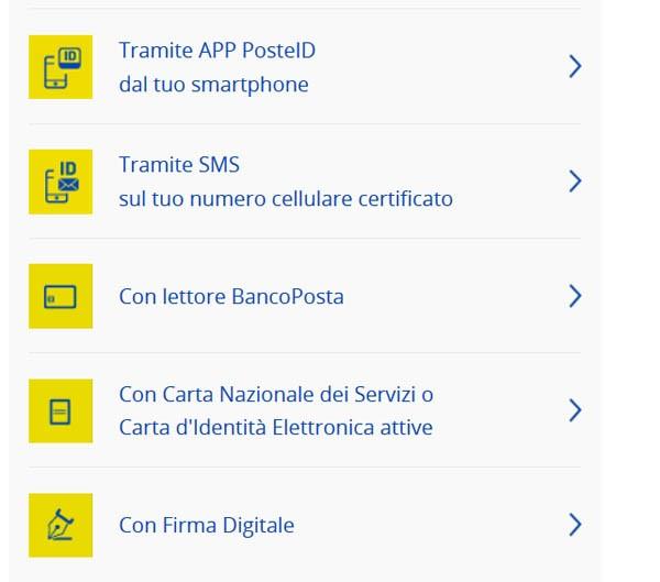 Per avere la nuova Identità Digitale PosteID abilitata a SPID, registrati scegliendo uno degli strumenti di riconoscimento online indicati.
