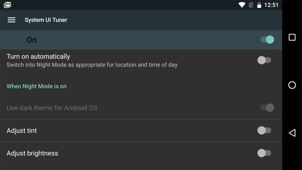 La modalità notturna e le nuove impostazioni per il display introdotte da Android N