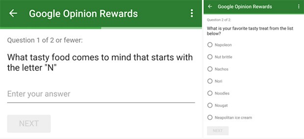 Il sondaggio di Google per chiedere consigli sul nome di un dolce da associare alla lettera N