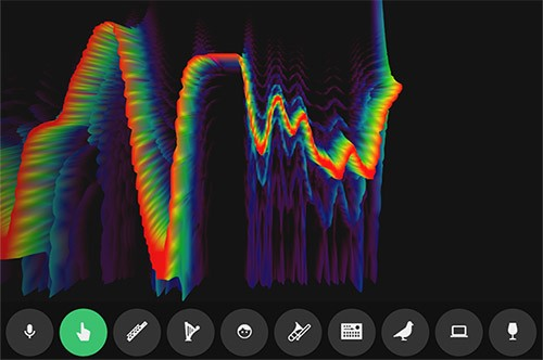 Spectrogram, uno degli esperimenti del Chrome Music Lab