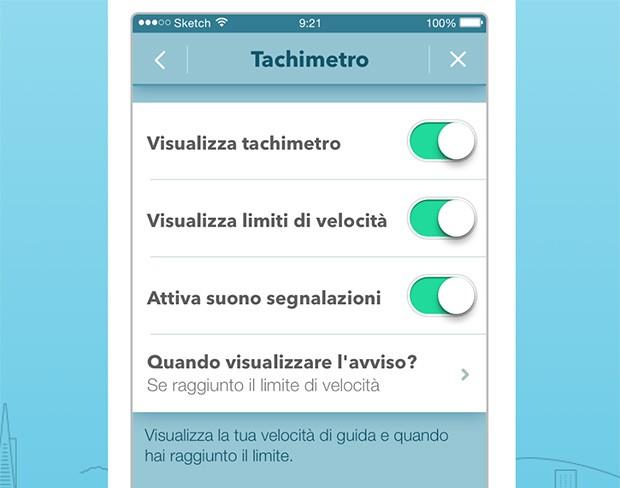 Le impostazioni relative al tachimetro nella nuova versione dell'app Waze