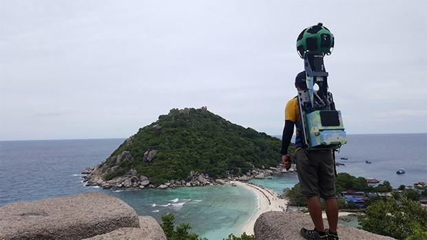 Il Trekker di Street View presso Koh Nang Yuan, in Thailandia