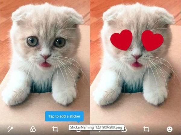 Twitter testa gli stickers per le foto