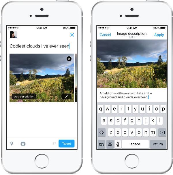 Twitter aiuta i non vedenti