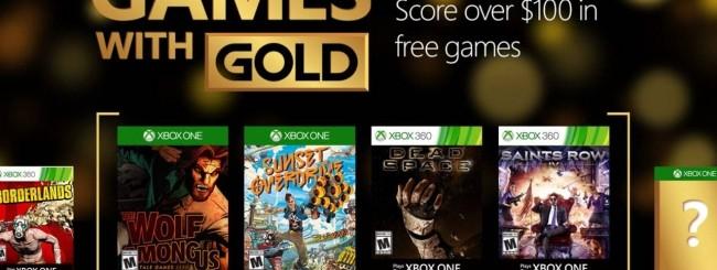 Microsoft annuncia i Games with Gold di Aprile