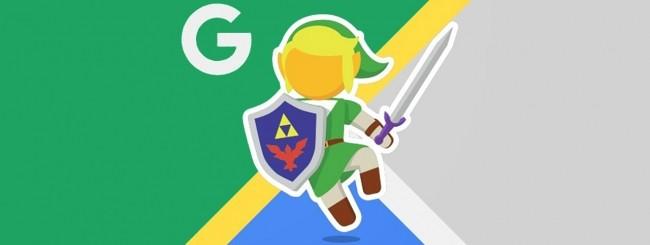 Zelda, Link e Google Maps