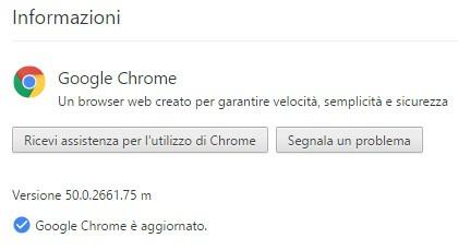 Google ha rilasciato l'aggiornamento che porta la versione stable del browser Chrome alla release 50.0.2661.75