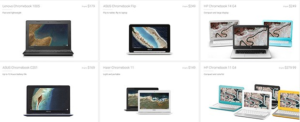 Una panoramica sui Chromebook disponibili in commercio