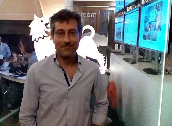 Daniele Chieffi, alla newsroom del Festival del Giornalismo di Perugia.