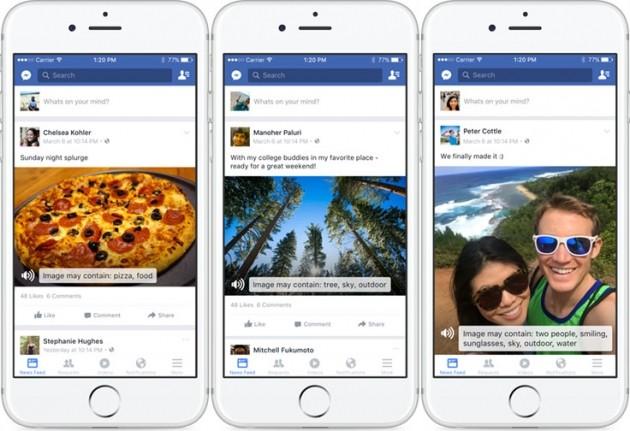 Automatic Alternative Text in Facebook per iOS.