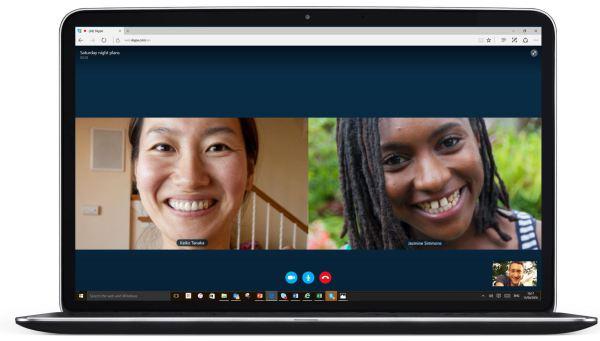 Skype for Web in Microsoft Edge
