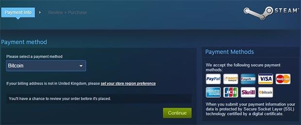 I Bitcoin come metodo di pagamento accettato da Valve per l'acquisto di giochi e contenuti sulla piattaforma Steam