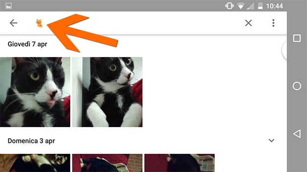 La ricerca visuale tra le immagini di Google Foto funziona anche con gli emoji