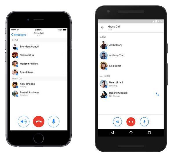 Facebook Messenger: chiamate di gruppo per tutti