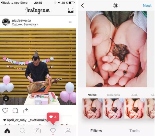 Instagram testa un nuovo design
