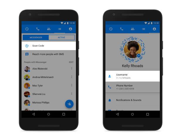 Facebook lancia lancia Messenger Codes, Usernames e Links