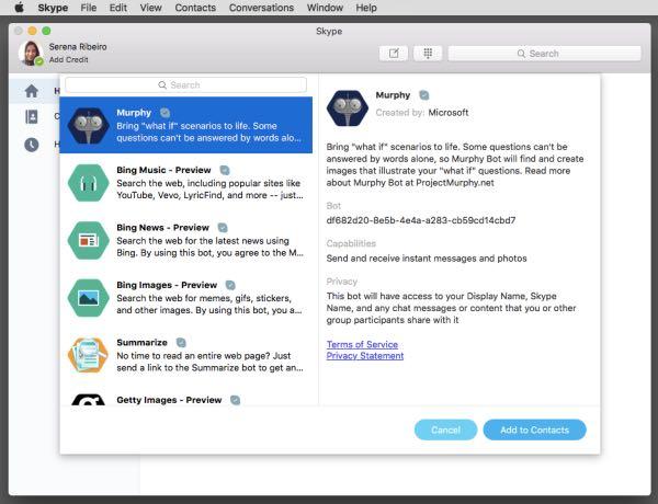 Skype porta i bots su Mac e sul web