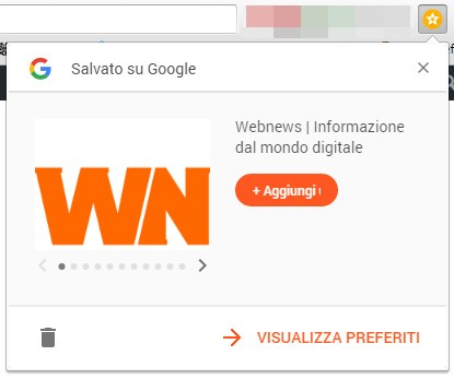 L'estensione Save to Google su browser Chrome
