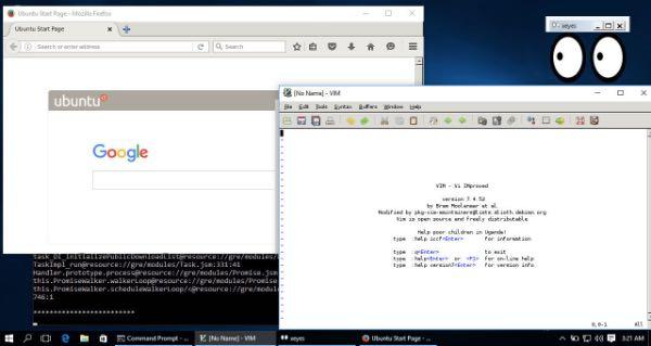 Windows 10, le app Linux con interfaccia grafica