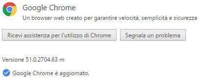 L'edizione desktop di Chrome è stata aggiornata alla versione 51