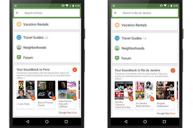 La partnership tra Google e TripAdvisor porta sulla piattaforma Play Musica playlist confezionate ad hoc sulla base del viaggio e del luogo che si sta per visitare