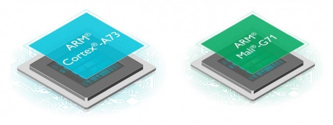 ARM Cortex-A73 e Mali-G71