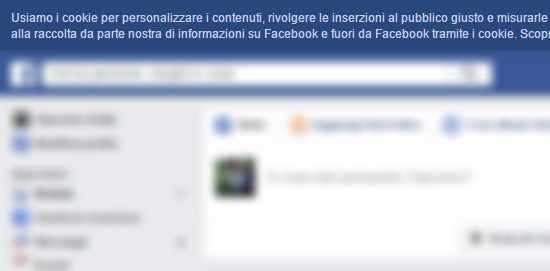 Cookie Law su Facebook