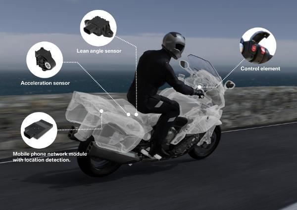 BMW introduce le chiamate di emergenza sulle moto