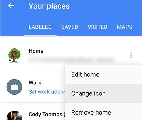La nuova versione di Google Maps consente di personalizzare le icone dei propri luoghi preferiti
