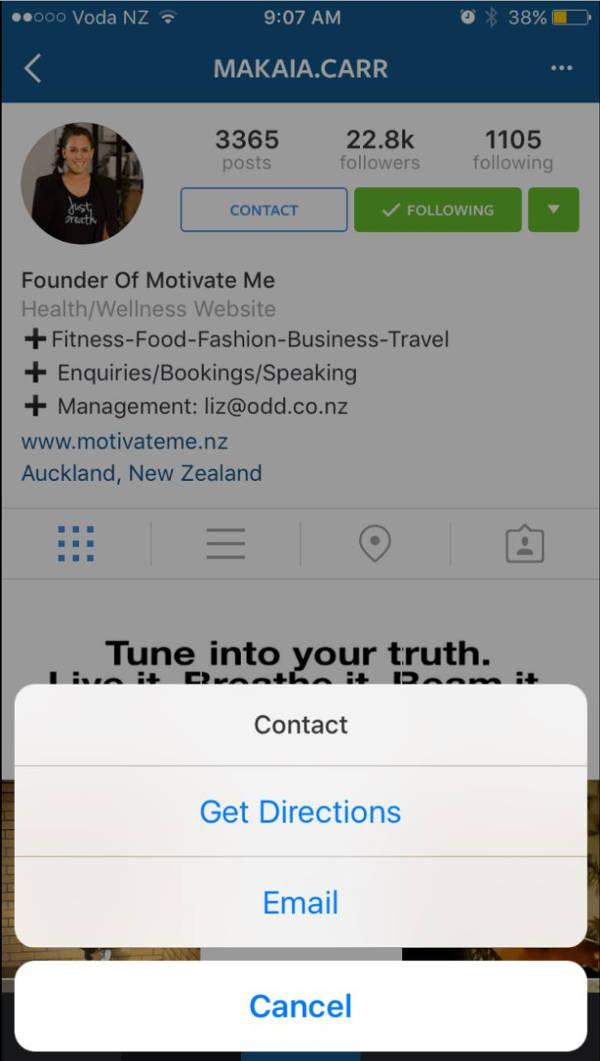 Instagram testa un pulsante per contattare le aziende