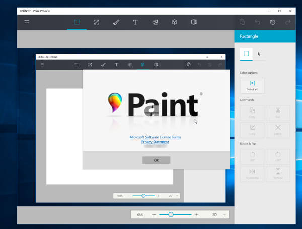 Windows 10, in arrivo un novo Paint