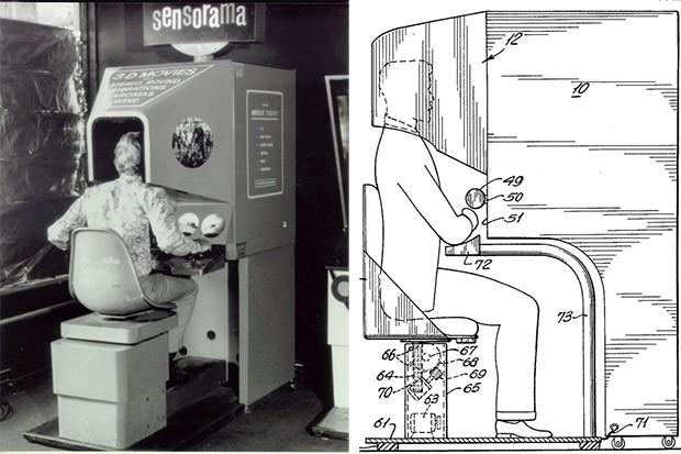 La macchina Sensorama, primo vero dispositivo per la realtà virtuale, creato alla fine degli anni '50