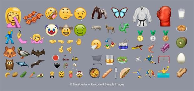 I nuovi emoji inserite dall'Unicode Consortium nella definizione dello standard 9.0