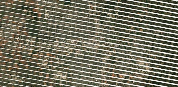 Un'immagine catturata da Landsat 7 dopo il problema hardware del 2003
