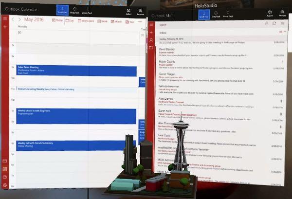 Outlook sbarca su Microsoft Hololens