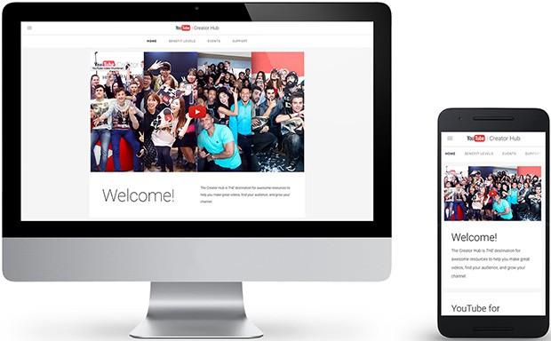 Il nuovo Creator Hub di YouTube, nelle sue versioni accessibili da browser desktop e da dispositivi mobile