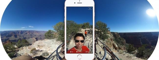 Facebook, foto a 360 gradi