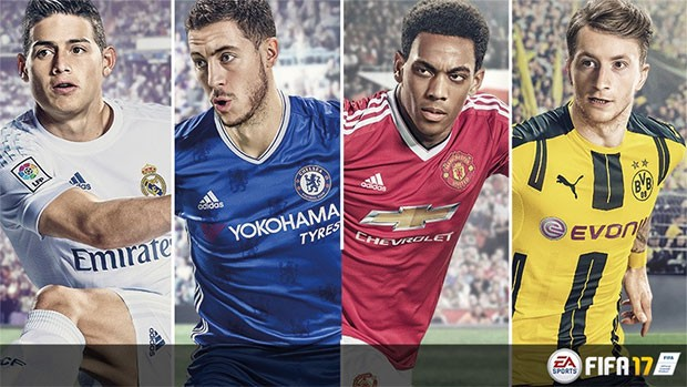I quattro testimonial di FIFA 17: James Rodríguez, Eden Hazard, Anthony Martial e Marco Reus