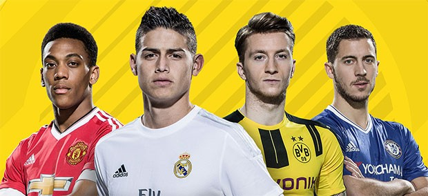 I testimonial di FIFA 17: Anthony Martial (Manchester United),James Rodríguez (Real Madrid), Marco Reus (Borussia Dortumund) ed Eden Hazard (Chelsea)