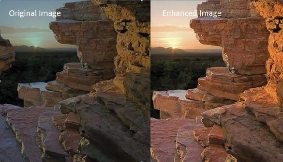 Immagine non HDR (a sinistra) e HDR (a destra) a confronto