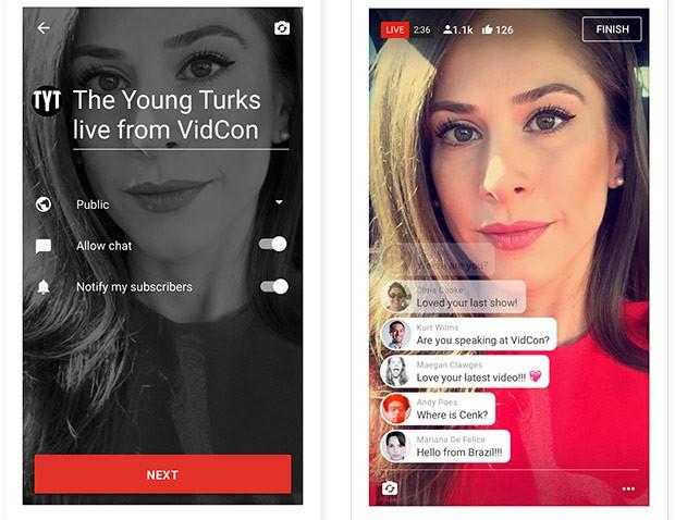 Il live streaming sta per arrivare nelle applicazioni mobile di YouTube