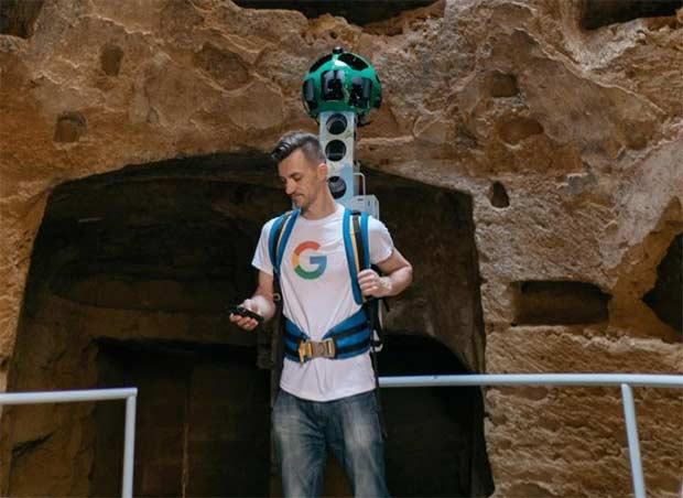 Il Trekker di Street View nella necropoli paleocristiana