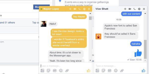 Facebook aggiorna il layout di Messenger