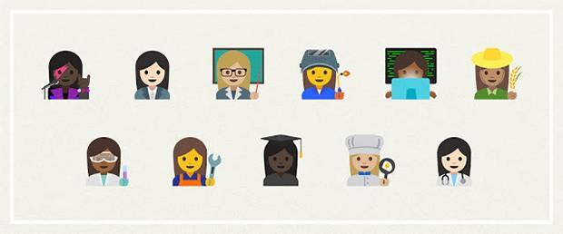 Le 11 emoji proposte da Google per rappresentare le donne al lavoro e approvate dal consorzio Unicode
