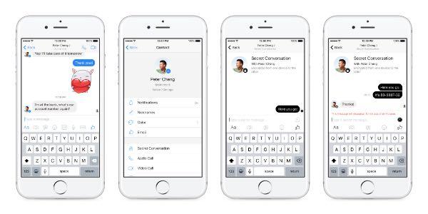 Facebook testa le conversazioni segrete su Messenger