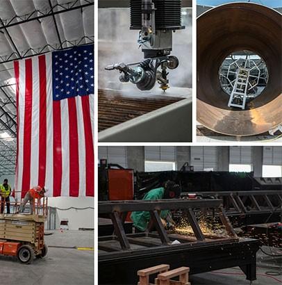 Alcune immagini dello stabilimento Metalworks che vedrà all'opera Hyperloop One