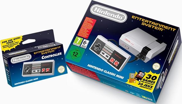 La console Nintendo Classic Mini e il controller