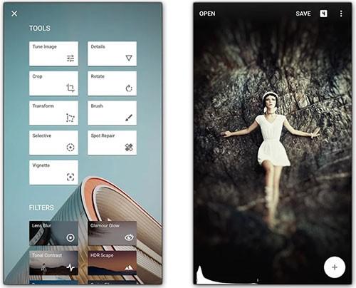 Screenshot per l'applicazione Snapseed
