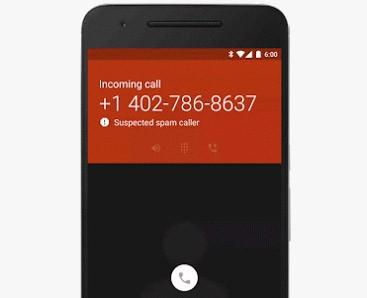 L'app Telefono, su Nexus e smartphone Android One, avvisa che la chiamata potrebbe essere indesiderata