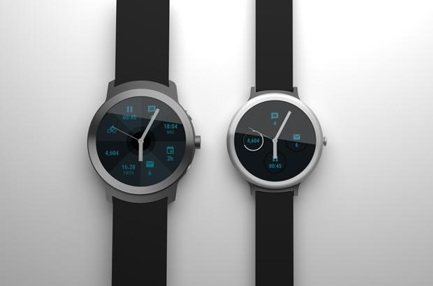 Primo render per i due smartwatch Android Wear realizzati da Google